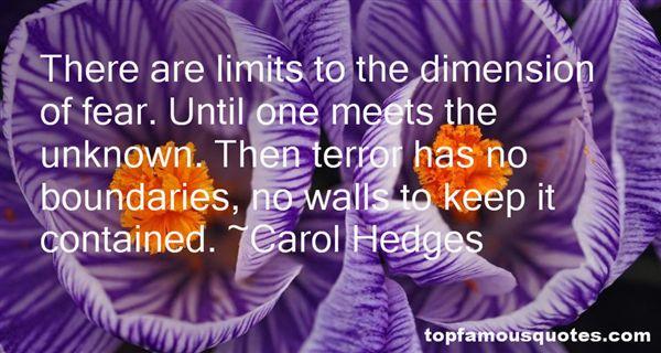 Carol Hedges Quotes