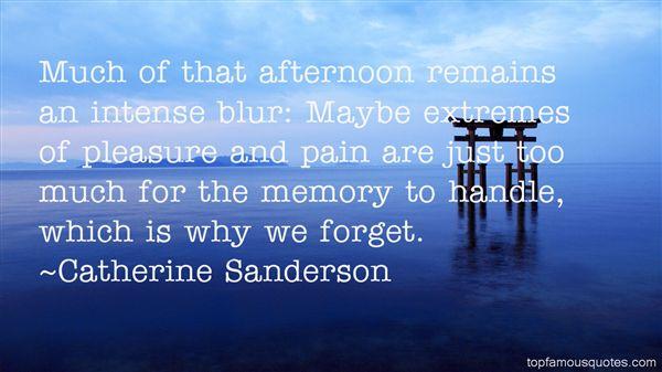 Catherine Sanderson Quotes