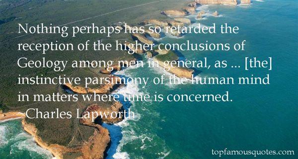 Charles Lapworth Quotes