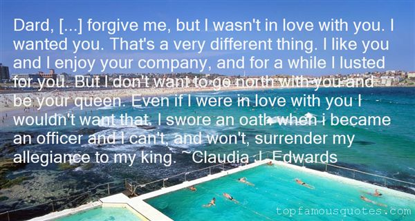 Claudia J. Edwards Quotes