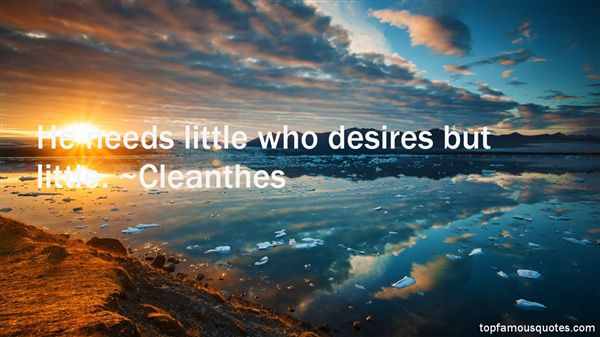 Cleanthes Quotes