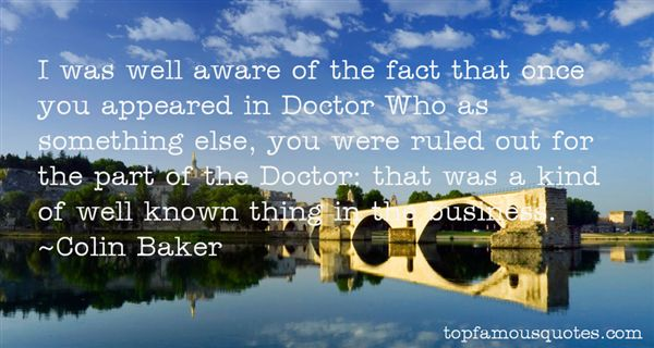 Colin Baker Quotes