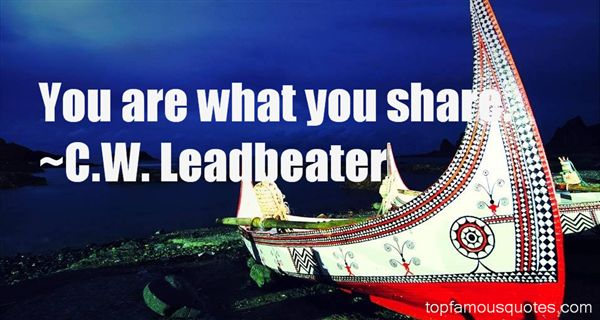 C.W. Leadbeater Quotes