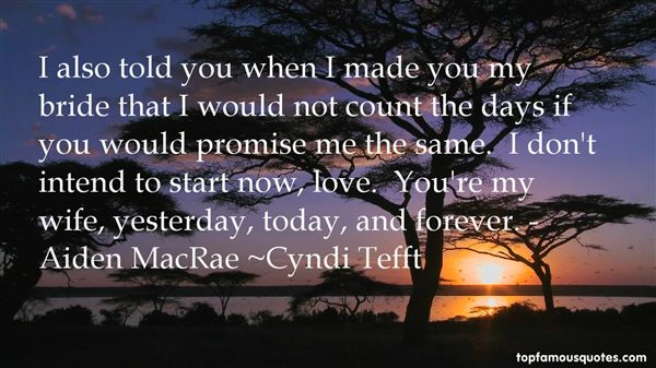 Cyndi Tefft Quotes