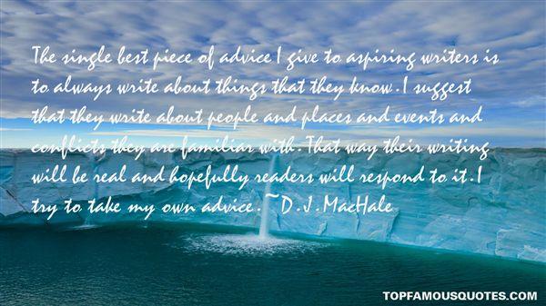 D. J. MacHale Quotes