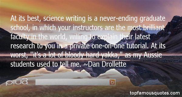 Dan Drollette Quotes