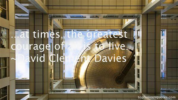 David Clement Davies Quotes