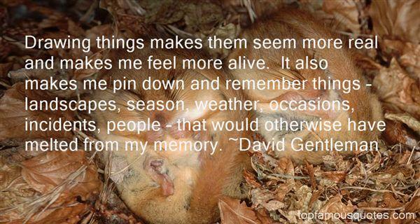David Gentleman Quotes
