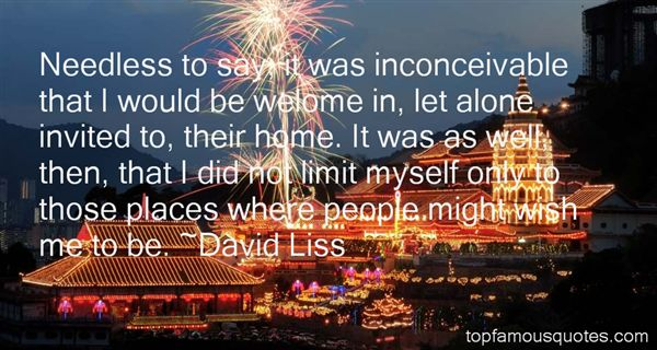 David Liss Quotes