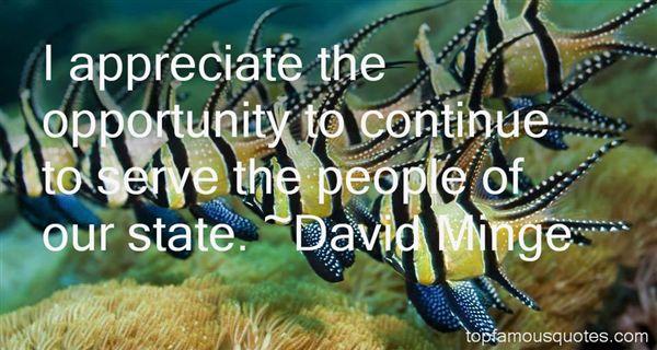 David Minge Quotes