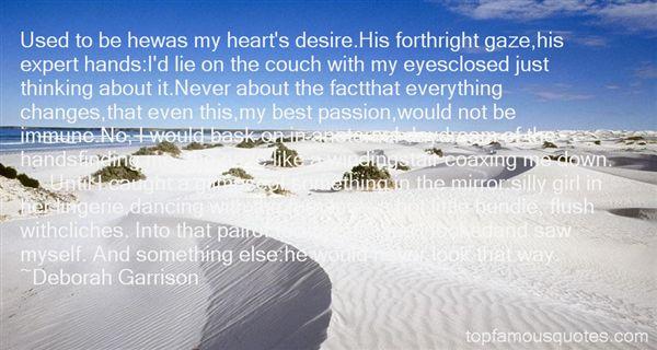 Deborah Garrison Quotes