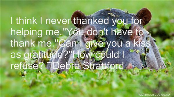 Debra Strattford Quotes