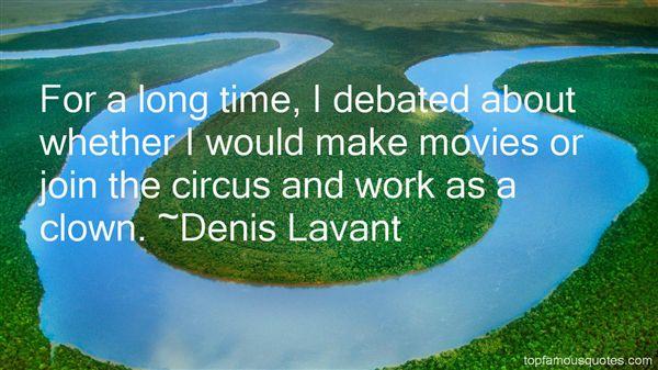 Denis Lavant Quotes