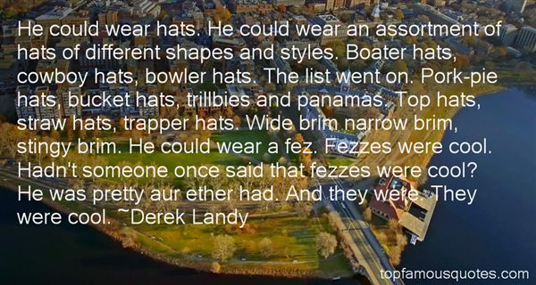 Derek Landy Quotes