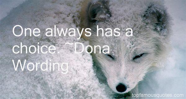 Dona Wording Quotes
