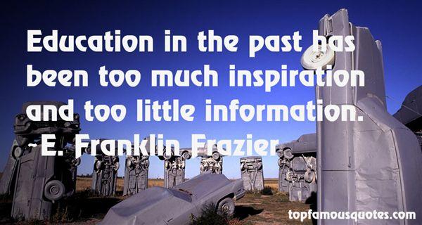 E. Franklin Frazier Quotes
