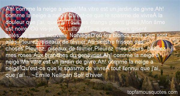 Émile Nelligan Soir D'hiver Quotes