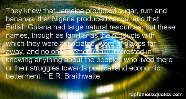 E.R. Braithwaite Quotes