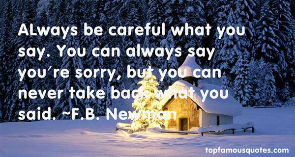 F.B. Newman Quotes