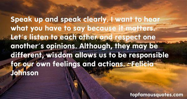 Felicia Johnson Quotes