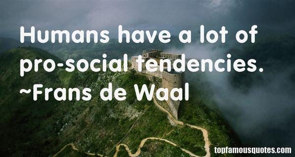 Frans De Waal Quotes