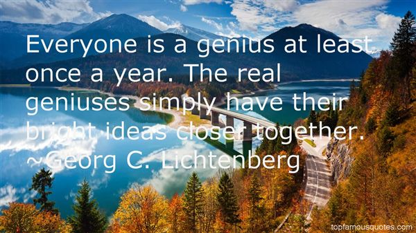 Georg C. Lichtenberg Quotes