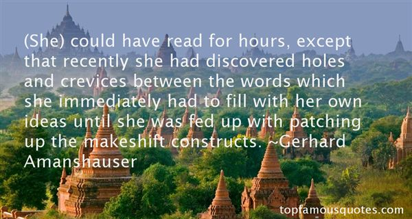 Gerhard Amanshauser Quotes