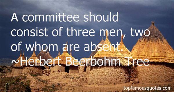 Herbert Beerbohm Tree Quotes