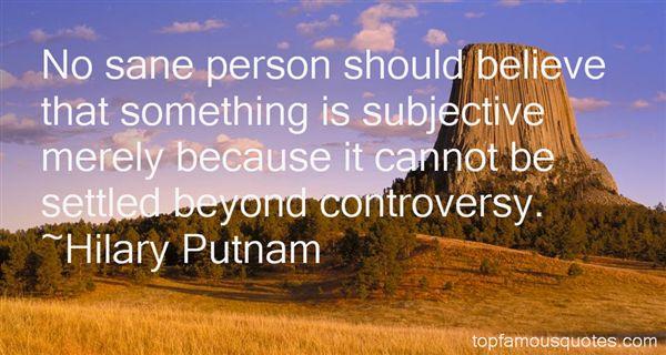 Hilary Putnam Quotes