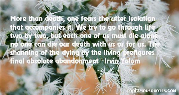 Irvin Yalom Quotes
