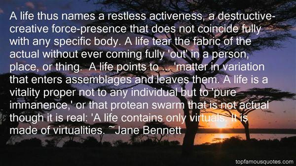 Jane Bennett Quotes