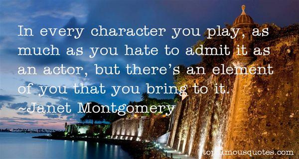Janet Montgomery Quotes