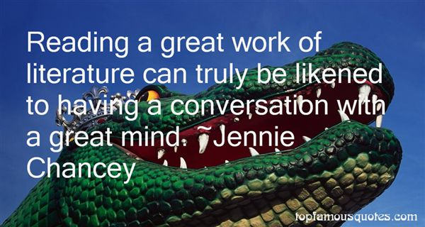 Jennie Chancey Quotes