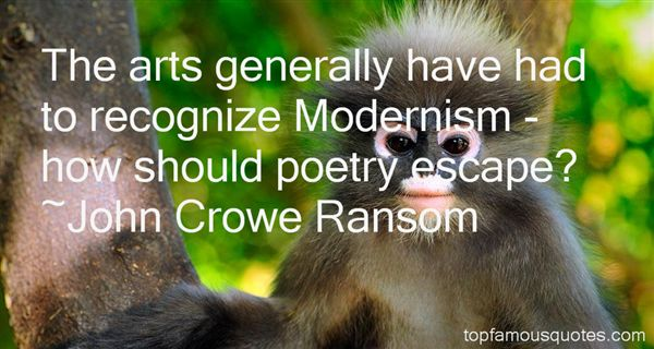 John Crowe Ransom Quotes