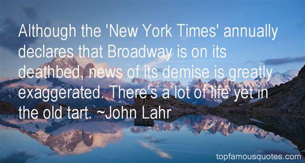 John Lahr Quotes