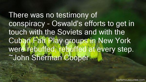 John Sherman Cooper Quotes