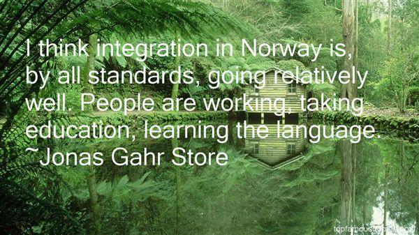 Jonas Gahr Store Quotes