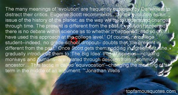 Jonathan Wells Quotes
