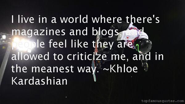 Khloe Kardashian Quotes