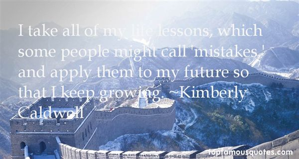 Kimberly Caldwell Quotes