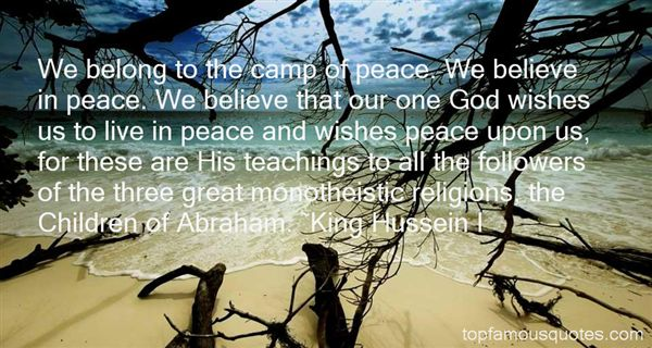 King Hussein I Quotes