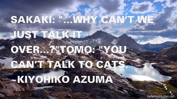 Kiyohiko Azuma Quotes