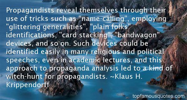 Klaus H. Krippendorff Quotes