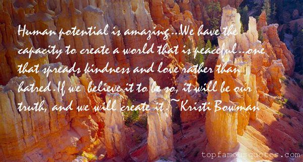Kristi Bowman Quotes