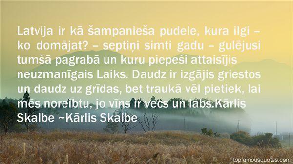 Kārlis Skalbe Quotes