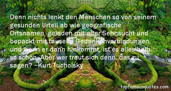 Kurt Tucholsky Quotes