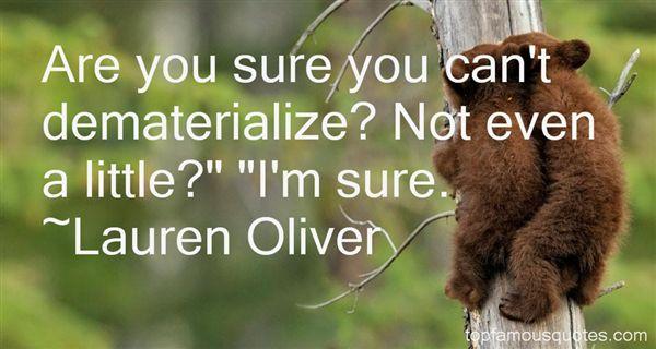 Lauren Oliver Quotes
