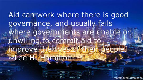 Lee H. Hamilton Quotes