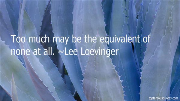Lee Loevinger Quotes