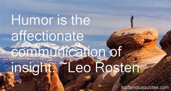 Leo Rosten Quotes